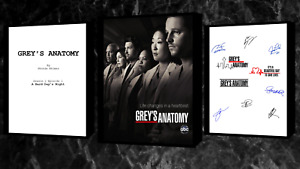 Greys Anatomy Script/Screenplay With Poster And Autographs Signed Print