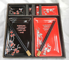 Japanese Porcelain Boxed Sushi Set for Two - BNIB