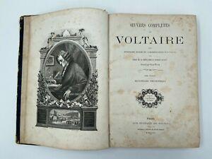 LIVRE OEUVRES COMPLETES DE VOLTAIRE LA BEDOLLIERE BUREAUX DU SIECLE 1867 H3301