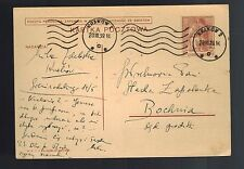 1939 November Bochnia Poland to Krakow Germany WWII Postcard Cover