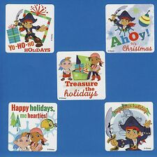 75 Jake and the NeverLand Pirates Christmas Holiday - Large Stickers - Favors