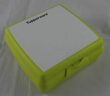 Tupperware A 126 Sandwichbox bemalbar Pausendose Brotzeitdose Grün / Weiß Neu