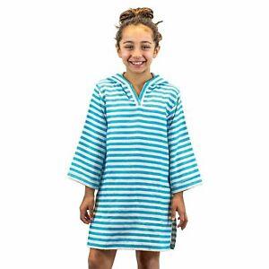Hooded Cotton Poncho Towel w Hood for Kids Beach Pool 100% Turkish Cotton