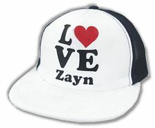 One Direction Love Heart Zayn Mesh Trucker Hat Cap New Official 1D Baseball