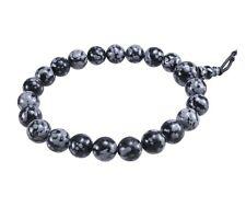 Snowflake Obsidian Power Bracelet Kugel-Armband Gemstone Beads Beads 8 Mm