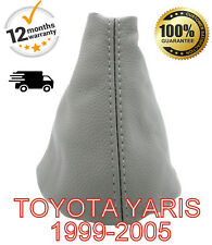 TOYOTA YARIS 1999-2005 GENUINE LEATHER GEAR SHIFT GAITER COVER - GREY