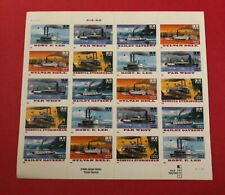 SHEET OF 20 STEAMBOATS STAMPS 32 CENT FACE MNH US SCOTT 3091-3095