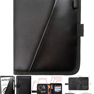 Glove Box Compartment Organizer - Car Document Holder - Owner Manual Case Pou...