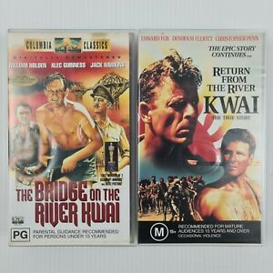 The Bridge on the River Kwai & Return from the River Kwai VHS Tapes