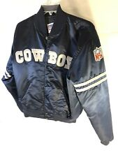 Vintage Dallas Cowboys Satin Starter Jacket Coat Size XL NFL Football 80s/90s