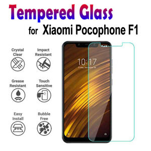 100% Genuine Tempered Glass Screen Protector for Xiaomi Pocophone F1