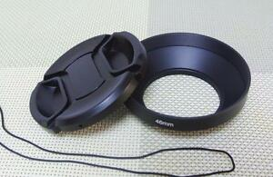 46 mm Metal Camera Lens Hood + 62mm Cap for Wide Angle Lens 46WC62