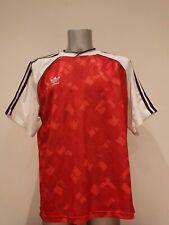 Vintage Adidas 1990 1991 red football shirt United Arsenal style size XL