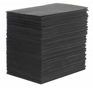 """Tattoo Table Black Covers Clean Pad Disposable Lap Cloths 125 Sheets 18"""" x 13.5"""""""
