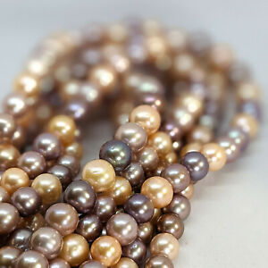 Edison pearl loose string, 10-13 mm, AAAA, graduated, multi-coloured
