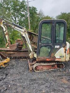 Bobcat 322D mini digger excavator dismantling for parts !! Blade extensions