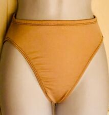 GK ELITE HIGH RISE HIGH CUT Size CHILD MEDIUM NYLON BRIEFS #1411 NUDE CM NWT!