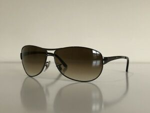 Ray Ban RB 3342 004/51 Warrior Aviator Gunmetal Brown Sunglasses 60-12 2N
