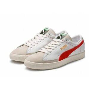 Puma Basket 90680 # 365944 02 Suede White Red Men SZ 8, 8.5
