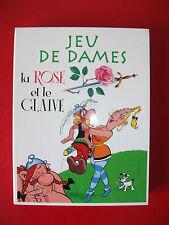 Jeu de dames ASTERIX Le rose et le glaive jeu de société Complet  éditions Atlas