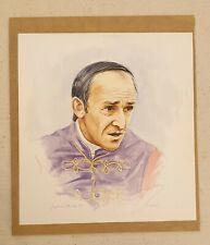 Jacqueline Stanhope b1963 original signed painting Smokin Joe Mercer Race Jockey
