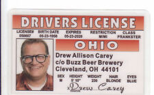 the Drew Carey Show BUZZ Beer Brewery Cleveland OH   Drivers License Ohio