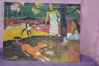 ANCIEN PUZZLE REPRODUCTION TABLEAU PAUL GAUGUIN PAS HUILE SUR TOILE