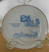 """Willoughby Ohio First Presbyterian Church Collector Plate """"Completing The Dream"""""""