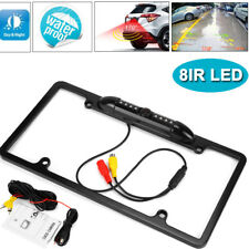 Car Rear View Backup Camera 8 IR Night Vision US License Plate Frame CMOS Cam US