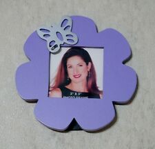 3x3 purple flower photo frame with butterfly NWT youth girls