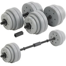 DTX Fitness 30kg Dumbbell/Barbell Weight Set Pair of Hand Weights Gym Workout