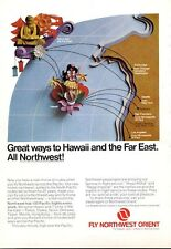 1969 Northwest Orient Airlines Far East to Hawaii Japan PRINT AD