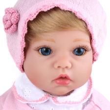 20'' Reborn Baby Doll Blonde Hair Girl Babies Lifelike Newborn Vinyl Silicone
