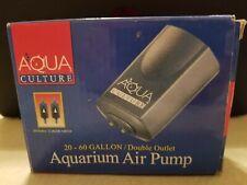 NEW Aqua Culture MK-1504 Aquarium air pump double outlet 20-60 gallon