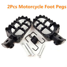 2Pcs 8mm Bolt Wide Motorcycle Foot Pegs Footrest