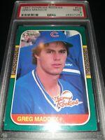1987 Donruss Rookies Greg Maddux PSA 9  MINT #52 Cubs RC Braves HOF ⚾🔥📈🔥