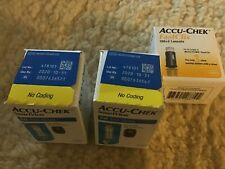 NIB 100 ACCU-CHEK SMARTVIEW TEST STRIPS  1-31-21  and lancets