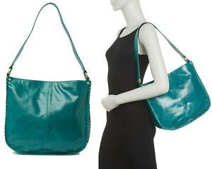 HOBO Bianka Women's Vintage Hide Leather Shoulder Bag Handbag Purse in Bluegrass