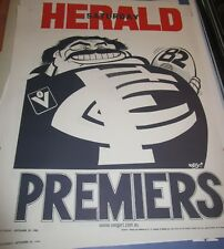 1982 Carlton Football Club : VFL Premiers official Weg Herald Sun Poster