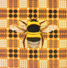 TEX EX ORIGINALE VELLUTO Bumblebee VINTAGE Gallese Coperta Cuscino PANNELLO D'ORO