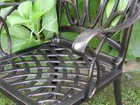 2 Solid Cast Aluminum Outdoor Patio Furniture Arm-Chairs WZ-170 CBM patio