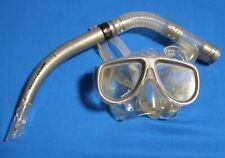 Body Glove Diving / Snorkeling Mask and Snorkel Gray Low Volume Tempered Glass