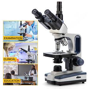 SWIFT 40X-2500X Pro Trinocular Microscope Researcher Lab Science Student Biology