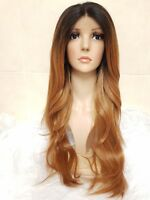 Red Auburn Ginger human hair lace wig, Swiss lace, silk based lace, free part