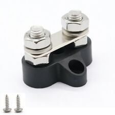 Boats 48V Black Dual Terminal Studs Heavy-Duty With Screws Wires Connected (M8)