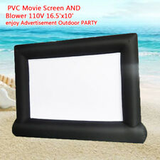 Pvc Movie Screen And Blower 110V 16.5'x10' enjoy Advertisement Outdoor Party