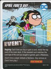 APRIL FOOL'S DAY DC Comics Deck Building Game card TEEN TITANS GO! EVENT ROBIN