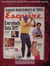 ESQUIRE January 1996 Jan 96 BRIDGET HALL 1995 DUBIOUS ACHIEVEMENT AWARDS