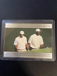 2014 UD Sp Authentic Tiger Woods & Michael Jordan Authentic Moments 69