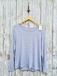 Nil. Grey Jersey Scoop Neck Long Sleeve Top L/XL - Was Selling At Anthropologie
